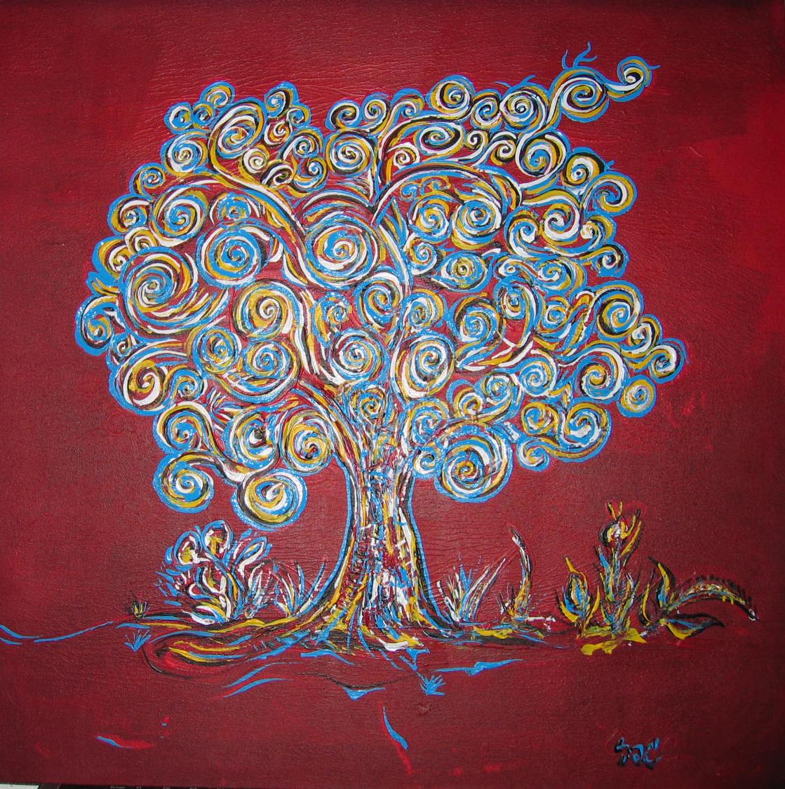 Image gallery peinture arbre for Reproduction tableau sur toile